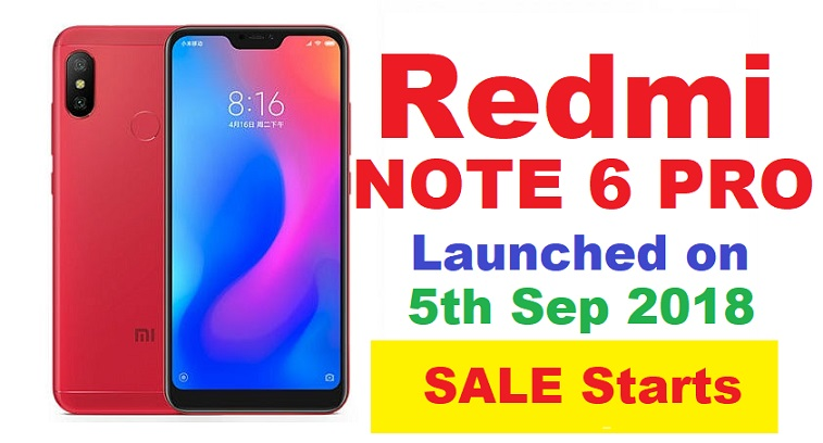 Xiaomi Redmi 6 Pro - Price, Full Specifications & Features