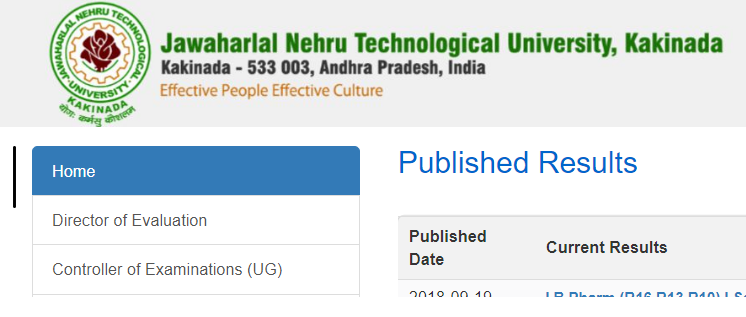 JNTUK B.Tech 4-1 Results 2018